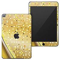 igsticker iPad mini 4 (2015) 5 (2019) 専用 全面スキンシール apple アップル アイパッド 第4世代 第5世代 A1538 A1550 A2124 A2126 A2133 シール フル ステッカー 保護シール 001943 クール 模様 シンプル 黄色