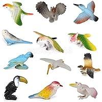 12pcsプラスチックPoultryリアルな動物鳥モデルおもちゃマルチカラー
