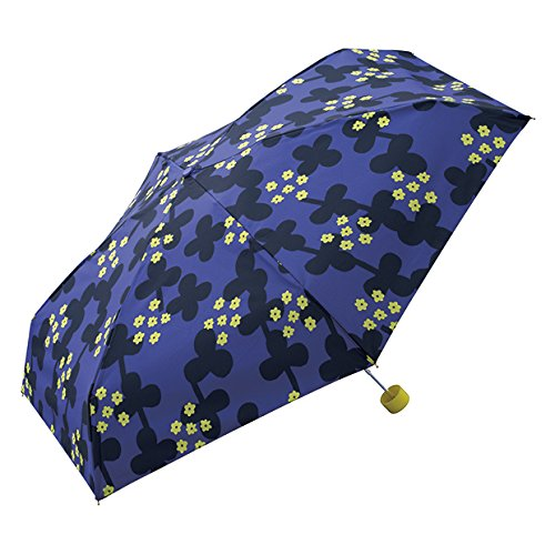 wpc-197 53cm クローバー-ブルー(129-197-BL) (ワールドパーティー) W.P.C 折りたたみ傘 CYLINDER 折りたたみ 傘 晴雨兼用 雨傘 日傘 花柄 軽量 コンパクト wpc-cylinder