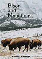 """Bison and Mountains: Bison Journal: Stunning picture of a Buffalo on a Notebook/Diary, collection """"extinct animals"""". Will make a nice gift for farmers, animal lovers and kids, mixed art, photography, endangered species, Composition Book"""