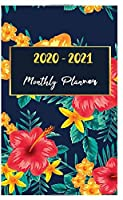 "2020-2021 Monthly Planner: 24-Months Pocket Planner & Calendar. Size: 4.0"" x 6.5"" ( January 2020 through December 2021) (Blue and Orange Butterflies)"