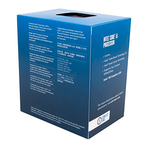 Intel CPU Core i5-7500 3.4GHz 6Mキャッシュ 4コア/4スレッド LGA1151 BX80677I57500 【BOX】