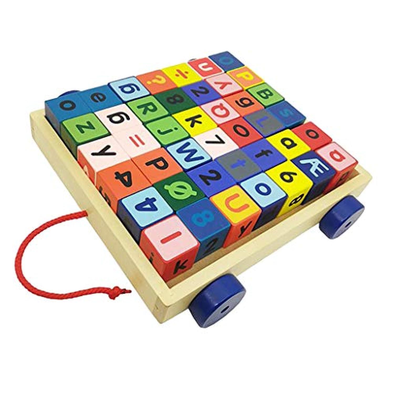 PETSOLA ブロック キューブつみき 積み木 42色 数字 アルファベット 知育玩具 認識玩具 おもちゃ