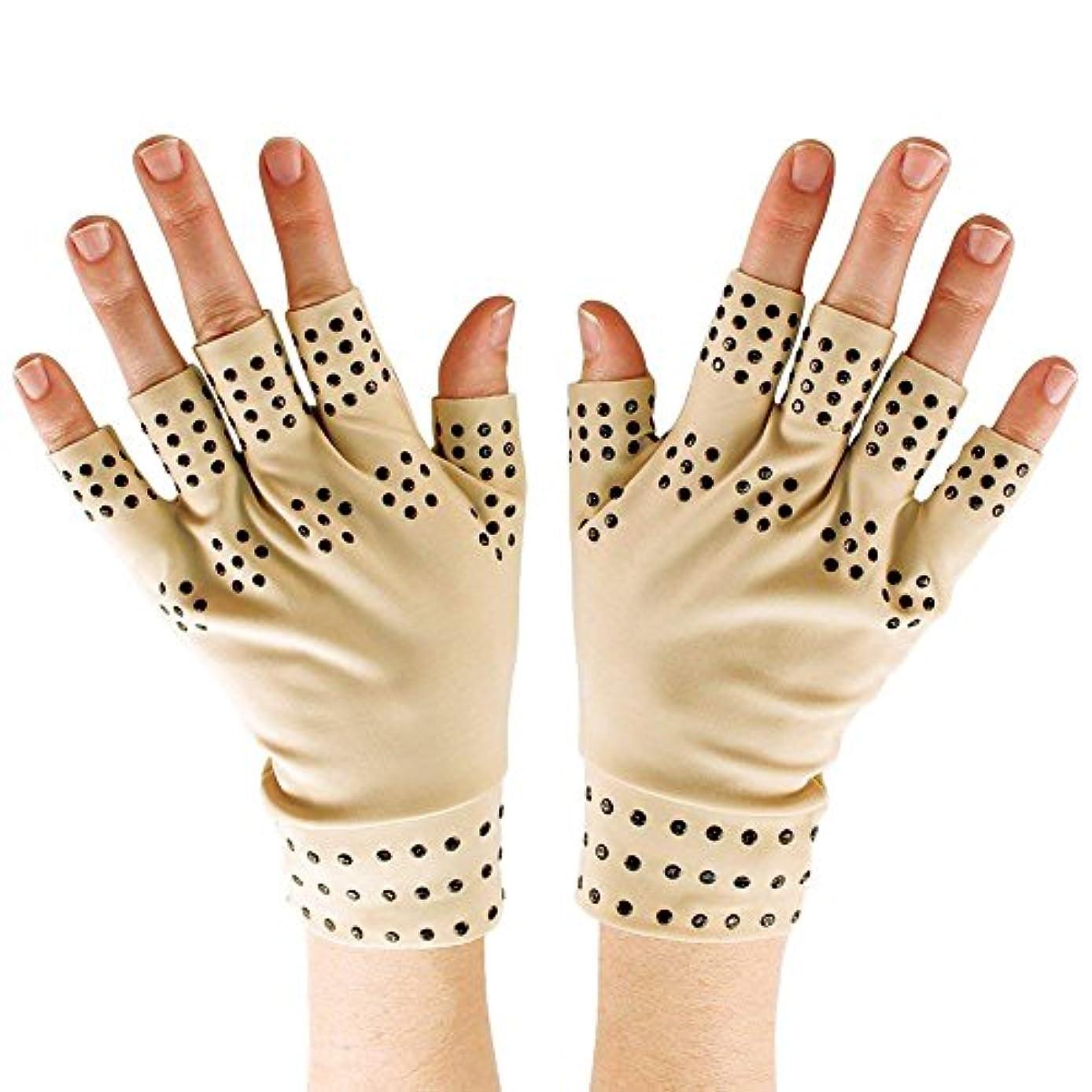 徹底リブ性差別SODIAL 磁気療法手袋の圧縮関節炎の循環 関節の治癒をサポート