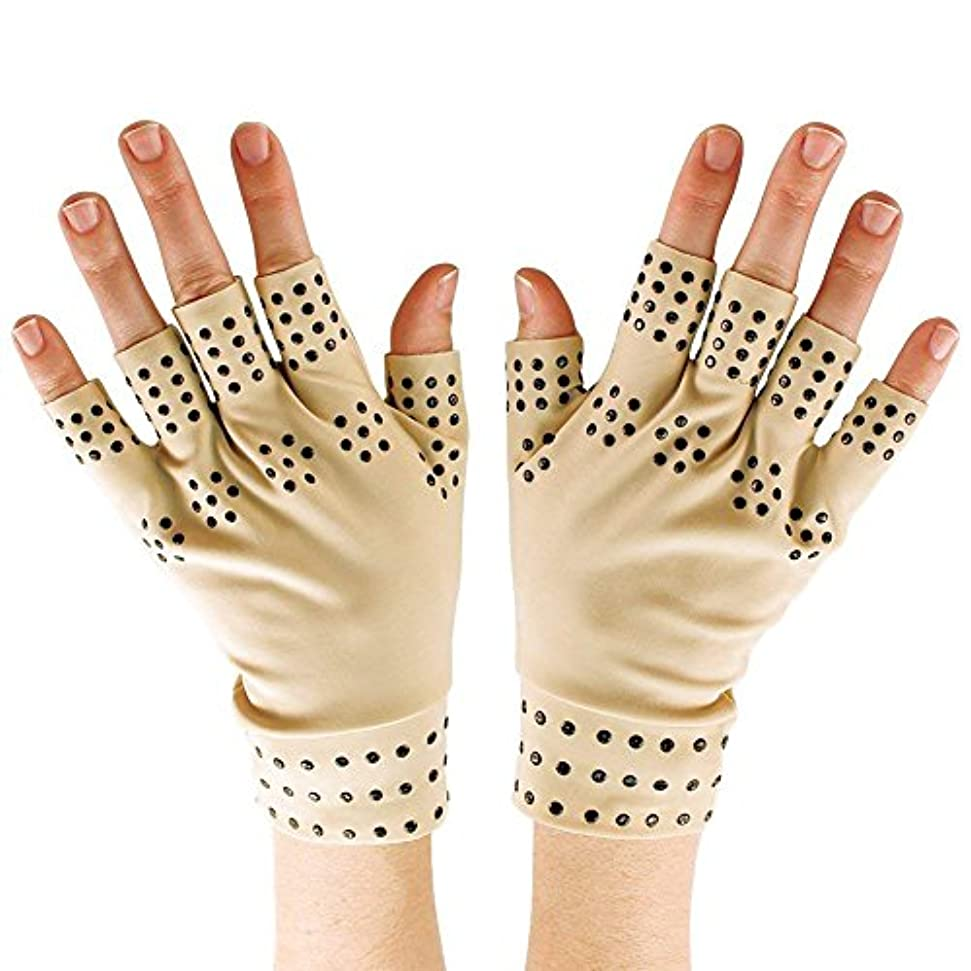 側面補償踊り子CUHAWUDBA 磁気療法手袋の圧縮関節炎の循環 関節の治癒をサポート
