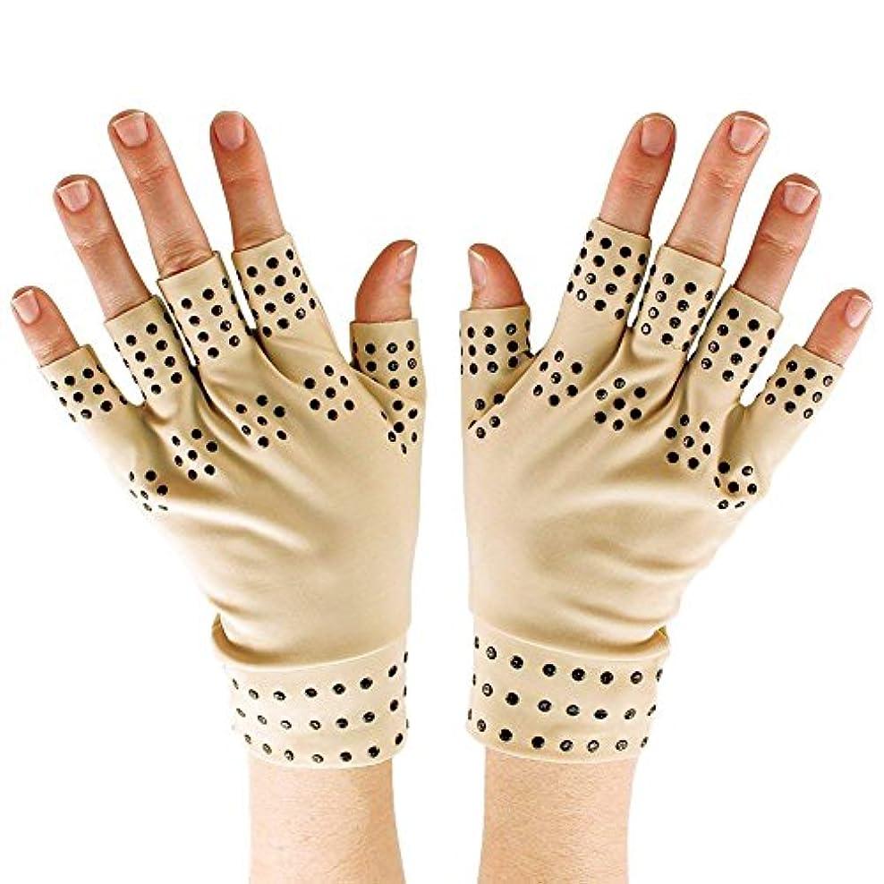 ストライプつま先料理Semoic 磁気療法手袋の圧縮関節炎の循環 関節の治癒をサポート