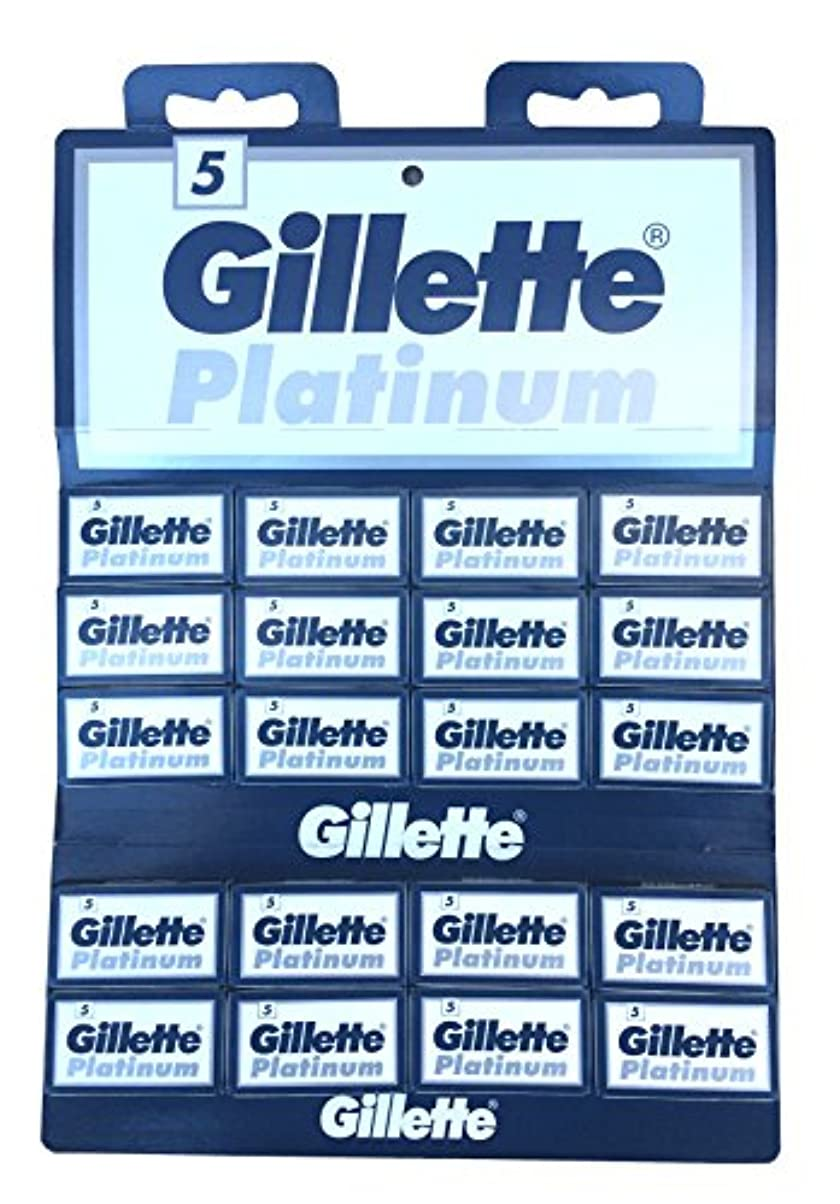 プラスチックドリル傾くGillette Platinum 両刃替刃 100枚入り(5枚入り20 個セット)【並行輸入品】