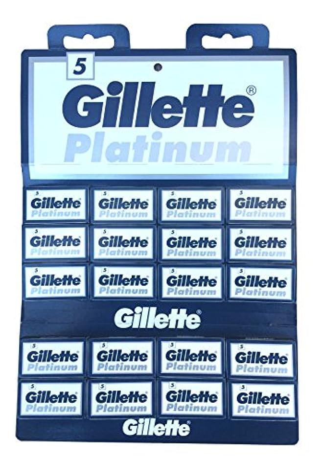 混合した責無駄なGillette Platinum 両刃替刃 100枚入り(5枚入り20 個セット)【並行輸入品】