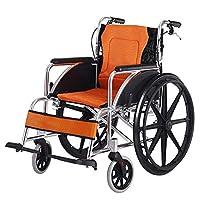自走用車いすハンドブレーキ、調節可能なペダルが付いている軽量の輸送の大人の折る車椅子