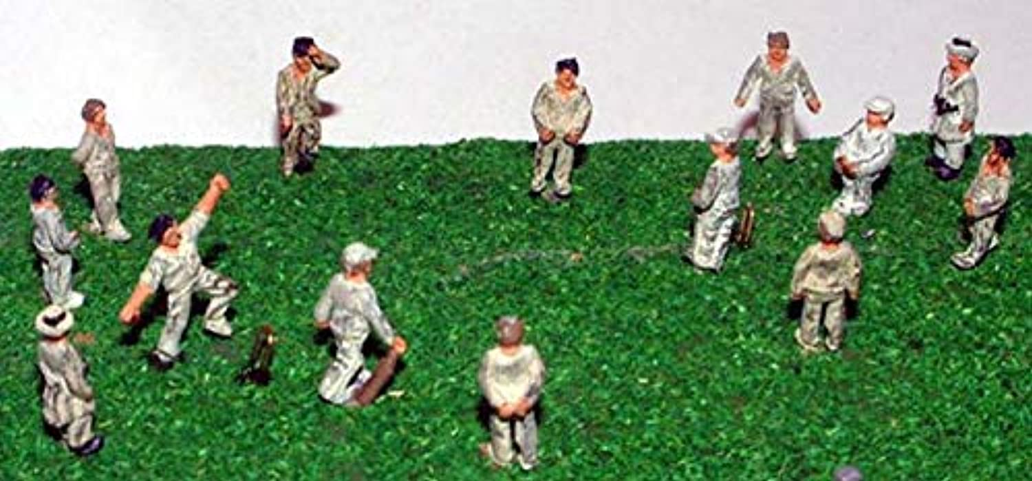 Langley CricketゲームモデルN ScaleメタルモデルPeople Figures Painted a76p