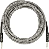 Fender シールドケーブル Professional Series Instrument Cable, 15', White Tweed