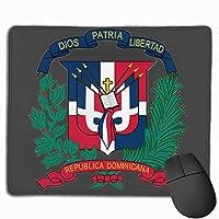 ドミニカ共和国の旗のロゴ マウスパッド 25×30 大判 ノンスリップ 防水 ゲーミング おしゃれ マウスの精密度を上がる