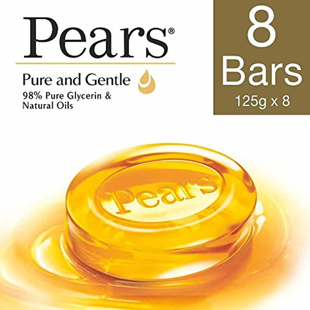 仮称哲学的二次Pears Pure And Gentle Bathing Bar, 125g (Pack Of 8)