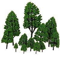 [ノーブランド品]木モデルツリーモデルツリー鉄道ジオラマ風景12セット