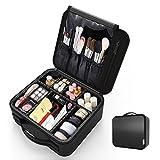 Regalll 便携式 プロ用 メイクボックス 高品質 收納抜群 大容量 化粧バッグ 置き方が調整できる 旅行 家用に大活躍な化粧箱 (黑)