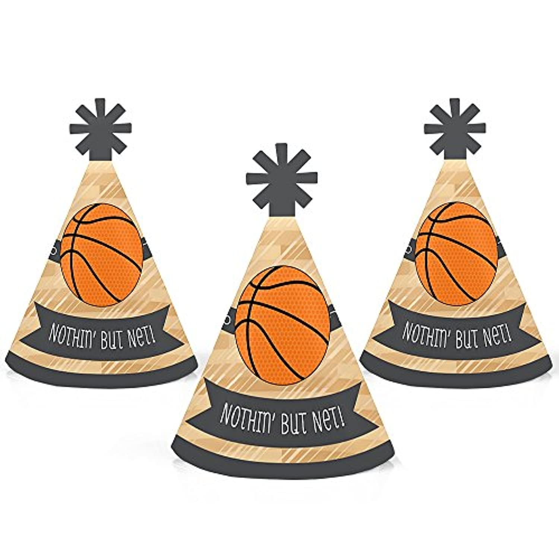 Nothin ' But Net – バスケットボール – Mini円錐ベビーシャワーまたは誕生日パーティー帽子 – スモールLittle Party Hats – 10のセット