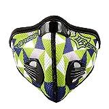 ROCKBROS(ロックブロス)サイクリング フェイスマスク(グリーン,)