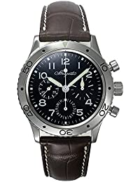 (ブレゲ) BREGUET 腕時計 タイプXX アエロナバル 3800ST/91/9W6 ブラック クロコダイルベルト メンズ [並行輸入品]