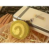 食品サンプル屋 食品サンプル 携帯ストラップロールケーキ 抹茶 02P03Dec16