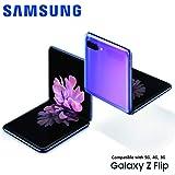 Samsung Galaxy Z Flip 4G LTE Model SM-F700N / 256GB / Unlocked SIM フリー (Mirror Purple) (Saephone限定特典2点)