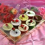 【母の日プレゼントギフト】 カップ8個入り 花とスイーツのプレゼント