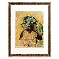 フィンセント・ファン・ゴッホ Vincent Willem van Gogh 「Tete de femme, Martinique」 額装アート作品