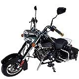 HAIGE ミニ アメリカンバイク クルーザーバイク 50cc 4サイクル チョッパーバイク クラシックバイク KXD009 カラー:ブラック