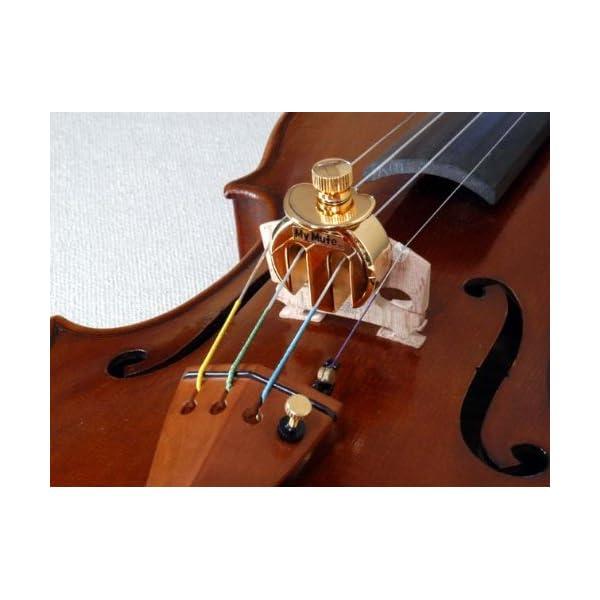 My Mute バイオリン用消音器 高級金メッ...の紹介画像3
