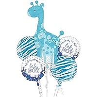 Lumierechat ベビーシャワー バルーン 風船 アルミバルーン ベビー 出産 誕生日 飾り 装飾 デコ パーティー 出産祝い 空気入れ セット a-7756 (ベビーシャワー, ブルー)