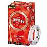 3M スコッチ 超透明テープS 15mm×35m 芯76mm 12巻 BP-15N