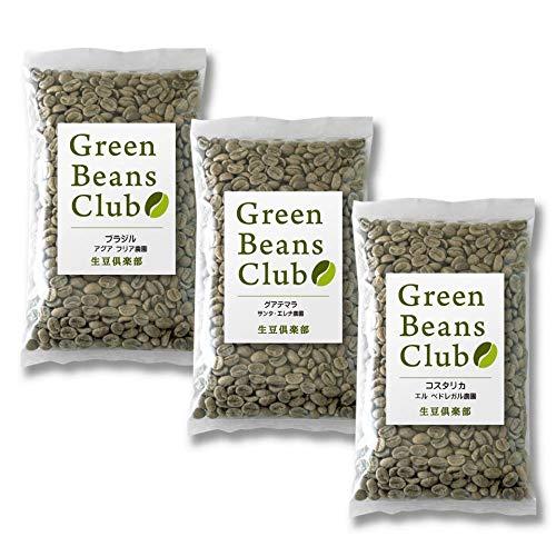 生豆倶楽部 コーヒー生豆 プレミアム 厳選セレクト3農園セット(200g×3袋)プロのコーヒー豆をご家庭で焙煎 Green Beans Club お試し