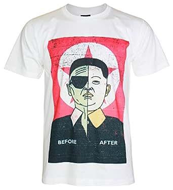 Kim Jong Un T-Shirt キム・ジョンウン前Before Tシャツ (M, White)