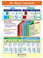 All About Decimals Visual Learning Guides Set/5-4-Panel 11 x 17 Laminated Guides Full-Color Graphic Overview Write-On/Wipe-Off Activities [並行輸入品]