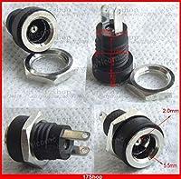 FENGYI KEJI 10PCS Copper 5.5mm X 2.1mm DC Socket 3A Power Charger Plug Panel + Screw nut