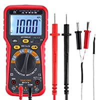 Luani ポータブルLCDデジタルマルチメータAT80B AT80E LCDデジタル電圧計電流計抵抗計マルチメータボルトAC DCテスターメータ