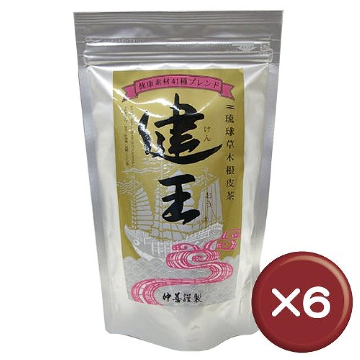 不十分他にしおれた琉球草木根皮茶 健王 ティーバッグ 2g×30包 6個セット