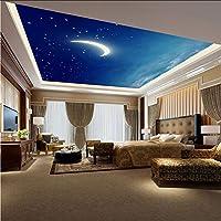 Hwhz 天井3Dステレオ壁紙星空夜空フォト壁紙モダンデザインキラキラ壁紙ロール用寝室用リビングルーム壁画B-200X140Cm