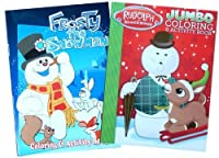 Frosty the Snowman and Rudolph The Reindeer Coloring Book Set ( Assorted Covers )
