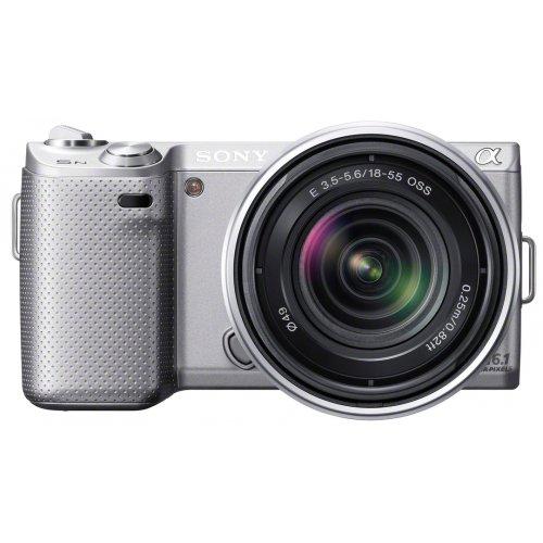 ソニー SONY ミラーレス一眼カメラ α NEX-5N ズームレンズキット シルバー NEX-5NK/S