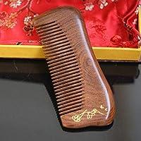 CATYAA サンダルウッドヘアコブ - 様々なスタイリストハウスデンシズ歯ブラシヘビースタイリングヘアーブラシ、ギフトボックス付き (Design : C)
