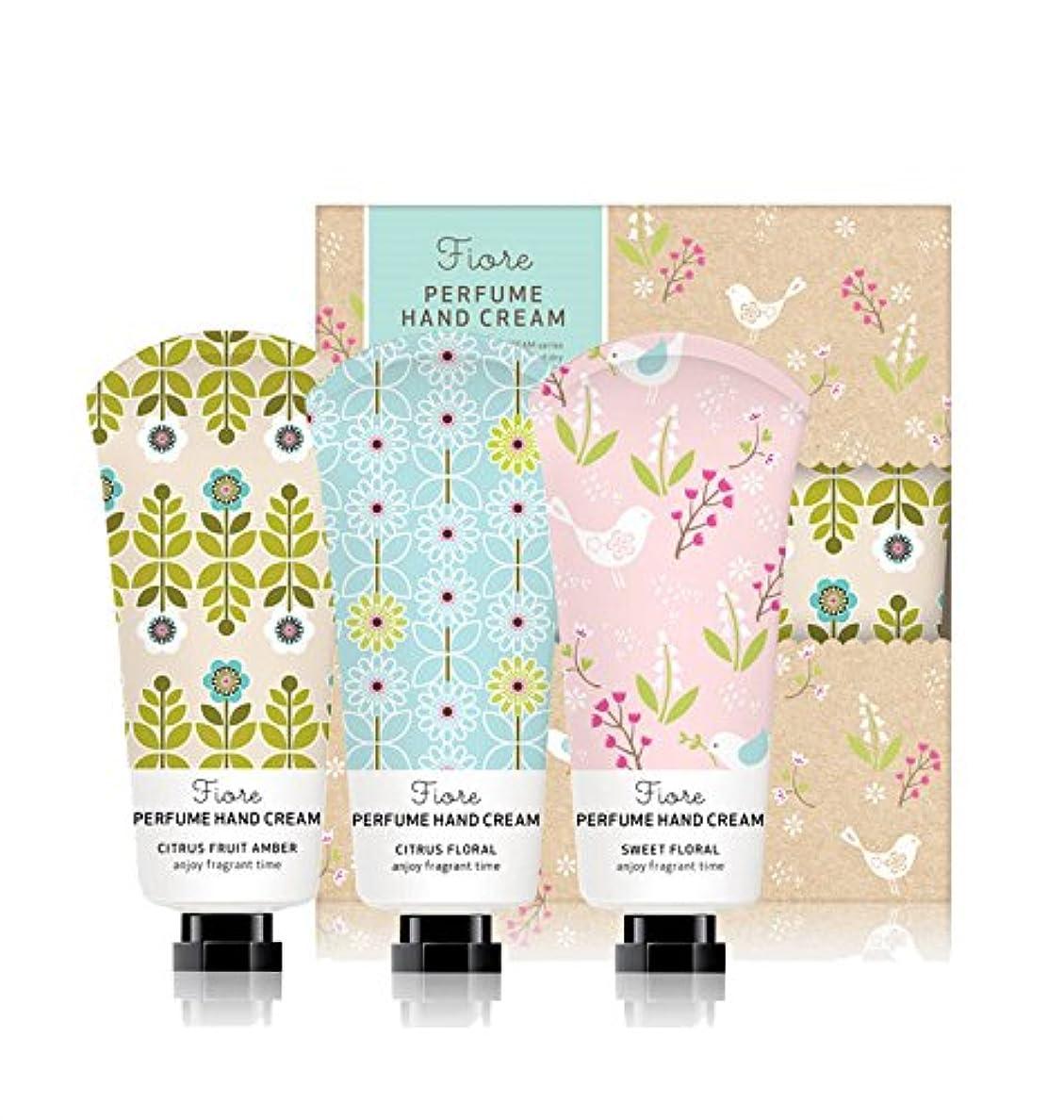 死にかけている手綱口ひげ[Fiore★ギフト用紙袋贈呈] パフュームハンドクリーム?スペシャルセット 60g x 3個セット / Perfume Hand Cream Specail Set