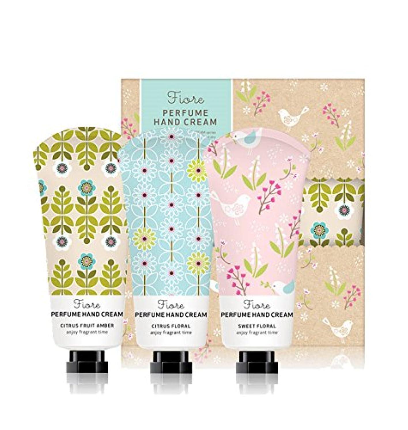 フラッシュのように素早く移行する樹木[Fiore★ギフト用紙袋贈呈] パフュームハンドクリーム?スペシャルセット 60g x 3個セット / Perfume Hand Cream Specail Set