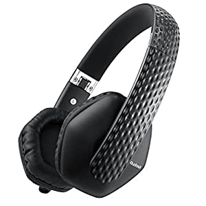 AudioMX ヘッドホン 重低音 密閉型 オンイヤー 折りたたみ式 リモコン・マイク付 ハンズフリー通話 有線式 黒 HS-G5