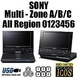 SONY 【日本語対応】 SX910 ポータブルブルーレイディスク/DVDプレーヤー ・ブルーレイ:全リージョンに完全対応(A/B/C) リージョン DVD 0,1,2,3,4,5,6,7,8 PAL/NTSC w HD-ICOS (並 行 輸...
