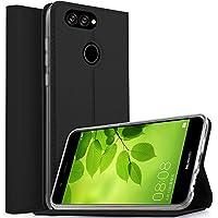 LG K10 +/K10/K10α2018 ケース KuGi LG K10 +/K10/K10α2018 カバー スタンド機能付き 手帳型ケース 横開き 耐衝撃 PUレザー カバー スマートフォンケース LG K10 +/K10/K10α2018 携帯全面保護カバー 本体の傷つきガード ブラック