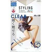 STYLING 満足 ストッキング CLEAR かぎりなく素肌 艶めく透明感 (交編 着圧 つま先補強 日本製 Made in Japan) 福助