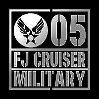 ミリタリー FJ CRUISER FJクルーザー カッティング ステッカー シルバー 銀