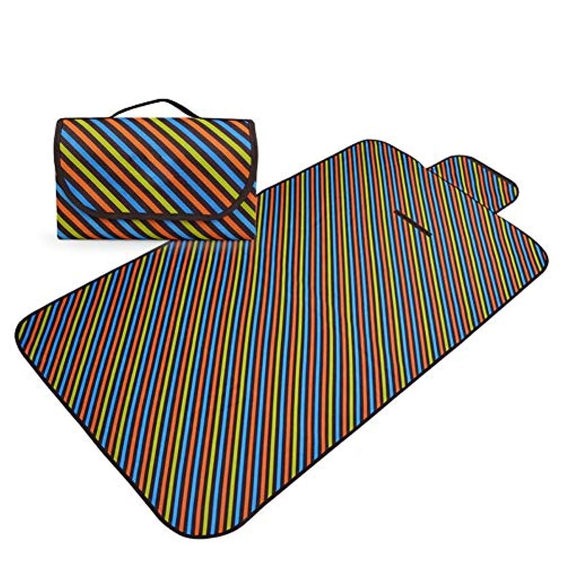 こしょうスリラーランドマークレジャーシートピクニックマット 芝生のおでかけピクニックマットトートスタイルキャンプブランケット防水バッキングビーチマット寒さ絶縁防湿 (Color : C, Size : 142x80cm)