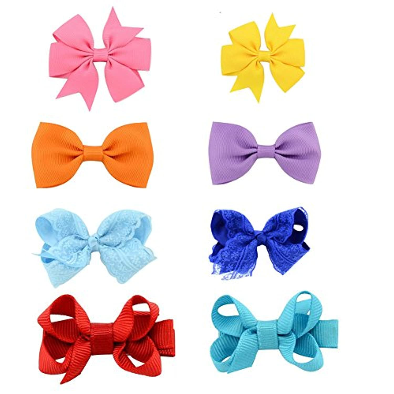 Aschic Baby Girl's Hair Clips Bowknot Anti-slip Clips Head Accessories for Toddler Kid's Knotted Hea ACCESSORY ベビー?ガールズ
