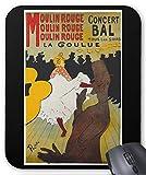 ロートレック『 ムーラン・ルージュのラ・グーリュ 』のマウスパッド:フォトパッド*( 世界の名画シリーズ ) (黒)